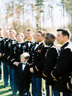 Elegant Emerald + Gold Military Wedding – Style Me Pretty Army Wedding, Wedding Groom, Military Weddings, Dream Wedding, Wedding Dreams, Wedding Things, Groom And Groomsmen Style, Bridesmaids And Groomsmen, Country Engagement