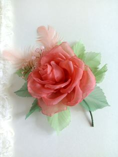 Rose salmon#coral rose#coral flower fabric#salmon chiffon flower brooch#coral flower hair clip#salmon chiffon flower#vintage flowers#gift for her#holiday accessory Do you like these flowers? Welcome to my Etsi Shop! This is the announcement of new listings! www.etsy.com/shop/MademoiselleChiffon