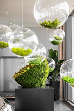 Flower Installation, To Infinity And Beyond, Contemporary Home Decor, Salon Design, Plant Wall, Corner Designs, Ikebana, Decoration, Planting Flowers