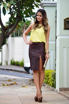 Brown Skirt - Thassia Naves