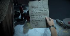 Until Dawn (Mike's Prank note to Hannah)