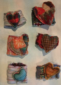 fabric cuffs, not my style, but too cute not to repin:)