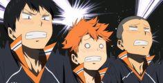 Haikyuu, i laughed my ass off! Haikyuu Kageyama, Hinata, Tanaka Haikyuu, Daichi Sawamura, Haikyuu Manga, Haikyuu Fanart, Kagehina, Naruto, Tanaka Ryuunosuke