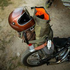 "BILTWELL Gringo S ""Bourbon Metallic"": great oldschool full face helmet with visor and DOT standard. Check out more retro motorcycle helmets at 24Helmets.de!"