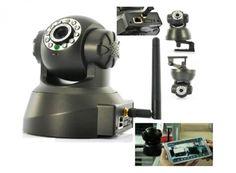 Bezdrôtová wifi otočná kamera kompatibilná so smartphone. Vhodná pre bezpečnostný systém.