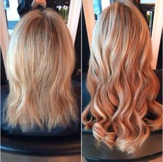 Great Lengths before and after - Perfection Salon, Swindon #hair #extensions #blonde #wavy