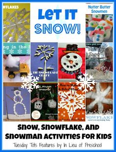 10 snow activities for kids -- It's no where near ready to snow where we live, so we'll have to settle for some of these snow-themed activities.  What's your weather like?