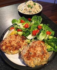 Rest day:  Tuna and salmon Fish cakes (will be included in the new ebook) with lime and cilantro cauliflower rice.  Calories:505 Fat:7 Carbs:66 Protein:49 - [ ] #intermittentfasting #fasting #healthy #likeforlike #bodybuilding #nutrition #workout #leangains #iifym #ifitfitsyourmacros #fit #food #protein #yummy #diet #gymlife #eatclean #food #foodstagram #foodporn #yum #motivaton #fitness #instafood  #fitness #gym #meal #instagood #instafit #proteinbar  #fishcakes