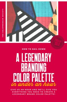 Give me one hour and I'll give you everything you need to create a legendary brand color palette, even if your design skills stop at coloring side the lines. #branding #branddesign #branding101 #brandidentity #design #entrepreneur #solopreneur
