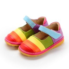17.8$  Watch more here - Sping Autumn Baby Girl Squeaky Shoes Rainbow Stripe Shoes Baby Girl Shoes Toddler Shoes Girl   #magazineonlinebeautiful