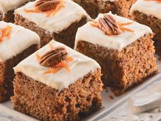 Carrot Cake Squares | MrFood.com