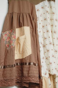 Large Long Boho Shabby Chic Tunic Dress Artsy by PrimitiveFringe