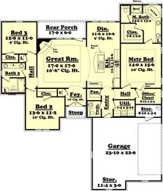 """House Plan #430-60  5 Copy Set$625.00  Reproducible Master$725.00  CAD Set$1,250.00  See All Pricing Options  Square Feet1800  Bedrooms3  Baths2½  Garage Stalls2  Levels1  Width56' 2""""  Depth65' 2"""""""