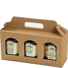 Jar Gift Box - Natural Textured Rib Window 3 - Jar Carrier - can't wait to put my homemade jams in here Pots, Honey Packaging, Jam Jar, Jar Gifts, Canning Jars, Packaging Design Inspiration, Cookies, Tiramisu, Cocktails