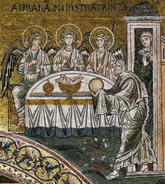 3. The Hospitality of Abraham (The Trinity) 1180s, mosaic, Monreale Cathedral, Monreale