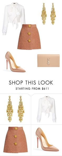 """Untitled #249"" by addieraedesigns ❤ liked on Polyvore featuring Plein Sud, Christian Louboutin and Yves Saint Laurent"
