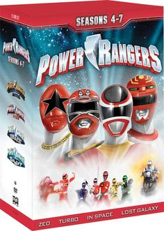 Power Rangers Seasons 4-7 DVD (Zeo, Turbo, In Space, Lost Galaxy)