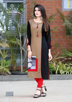 Description: It has 1 Piece of Kurti Fabric: Rayon Size; Bust (In Inches): Length: 45 In. Sleeves: Sleeve Type: Stitched Work: Solid With Tassel Kurti Designs Party Wear, Kurta Designs, Blouse Designs, Lehenga Choli, Anarkali, Fancy Kurti, Mode Abaya, Kurti Patterns, Kurti Collection