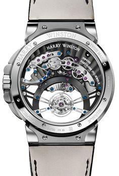 90fb723060f Harry Winston Ocean Tourbillon Jumping Hour Watch...So pretty I don t