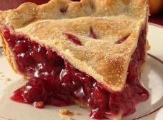 Cherry pie.. use this recipe for cherry-raspberry. (Sub 2 c of rasp for 2 c of the cherries.  May need just a pinch more sugar.)