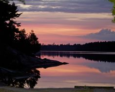 Grundy Lake Provincial Park - Dusk This park is our family fav - great spot to share a week with family and friends immersed in nature Ontario Provincial Parks, Ontario Parks, Parks Canada, Camping Spots, Dusk, The Great Outdoors, Beautiful Places, Places To Visit, Calm