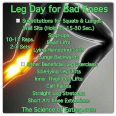 Leg exercise for bad knees