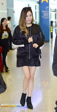 SNSD Tiffany Airport Fashion 151028 2015