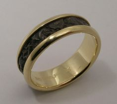 Hand Made and Hammer Forged 18k Yellow gold and by WatertonJewelry, $1975.00