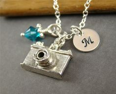 Camera Pendant Charm Sterling Silver by ShinyLittleBlessings, $32.00