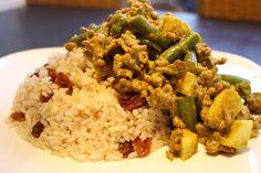 Wereldgerechten zonder pakje of zakje #10. Zuid Afrikaanse Boboti Big Meals, Vegetarian Dinners, Asian Recipes, Love Food, Nom Nom, Bacon, Clean Eating, Rice, Pasta