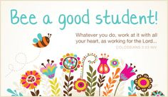 Free Bee a Good Student eCard - eMail Free Personalized Back to School Cards Online