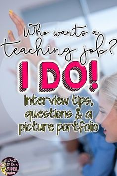Tips to Rock Your Elementary Teacher Interview Great for teachers looking for a job! Includes information about getting an elementary teaching position with Interview questions, [. Interview Tips For Teachers, Teaching Interview Questions, Teacher Job Interview, Teacher Interviews, Jobs For Teachers, Job Interview Tips, Teacher Tips, Teacher Stuff, Interview Dress