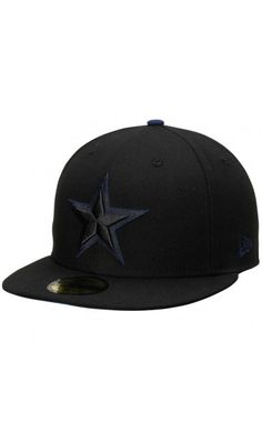 fba87b45f20 NFL Mens CinNFL Men s Dallas Cowboys New Era Black Pop Flip 59FIFTY Fitted   Hat  sportshat