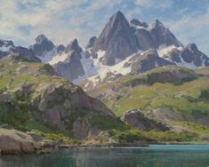 Clyde Aspevig :: Astoria Fine Art Gallery in Jackson Hole Landscape Painting Images, Landscape Art, Mountain Art, Mountain Landscape, Clyde Aspevig, Mountain Paintings, Environment Concept Art, Traditional Paintings, Western Art