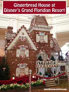Walt Disney World Holiday Tip: Make sure to check out the annual Gingerbread House at Disney's Grand Floridian Resort