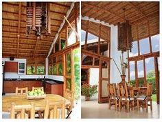 Casa chinauta - Paperblog Bamboo Architecture, Architecture Design, Bamboo House, Bamboo Design, Interior Exterior, Bungalow, Tiny House, Pergola, Design Inspiration