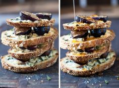 fig gorgonzola and honey tartine recipe by tartelette