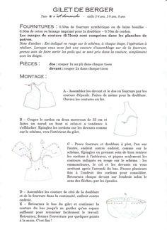 le gilet de berger - patron gratuit - C'est Dimanche, patrons femme et enfant - sewing patterns for women and children