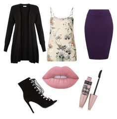 """THE OFFiCE"" by kayla1021 ❤ liked on Polyvore featuring WearAll, Monsoon, Miss Selfridge, Lime Crime and Maybelline"