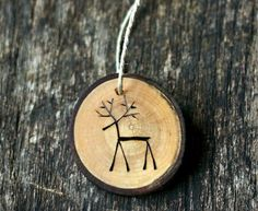 au naturel - handmade reindeer ornament - and cute