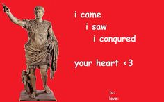 Valentines Day Card conquer your heart