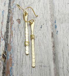 Angles Brass Drop Earrings