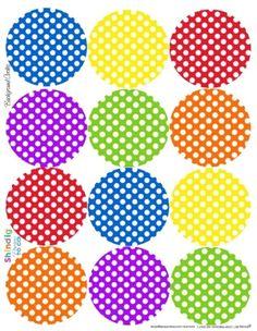 polka dot circle labels by magdalena