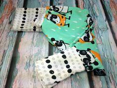 Binky D NIP Cool Pants Mint Raining Pandas (polka dot banding)