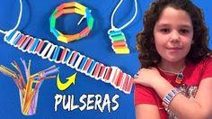 Cómo hacer PULSERAS con pajitas * MANUALIDADES de reciclaje * ¡Hoy no hay cole! - YouTube