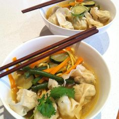 Recipe Chicken Wonton and Noodle Soup by shelleyjkemp - Recipe of category Main dishes - meat