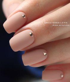 Nageldesign - Nail Art - Nagellack - Nail Polish - Nailart - Nails 15 Not boring nude nails ideas to Hair And Nails, My Nails, Manicure For Short Nails, Long Nails, Wedding Nails Design, Nail Wedding, Black Wedding Nails, Prom Nails, Nude Nails