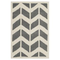 Safavieh CHT746D Chatham Dark Grey and Ivory Area Rug