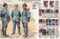 Pre-World War I German dragoon regiment uniforms