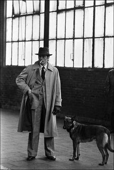 Alain Delon on the set of Monsieur Klein, 1976, do you like the trousers?